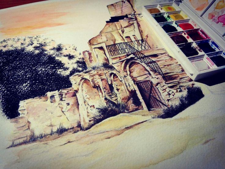 Work in progress Watercolor painting