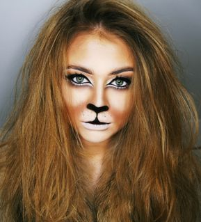 adult lion make-up woman face painting #fasching #costume #party