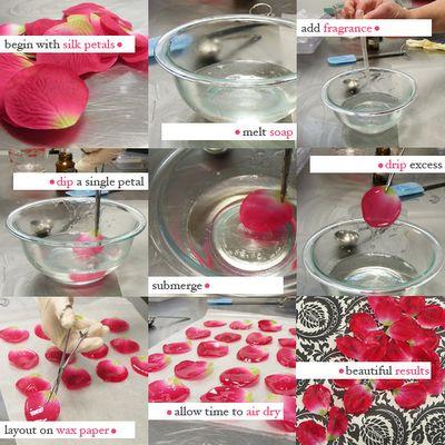 Homemade Soap Rose Petals