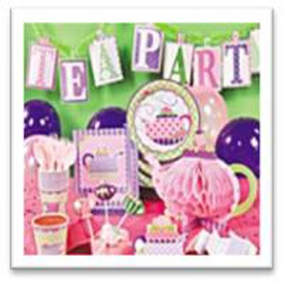 Save yourself time and money with a Tea Party Pack - tableware, decorations and party bags for 16 kids.
