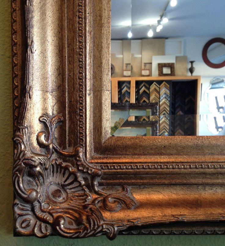 Antique Gold Ornate Framed Wall Mirror, Bathroom Vanity Mirror #Westframes #Traditional