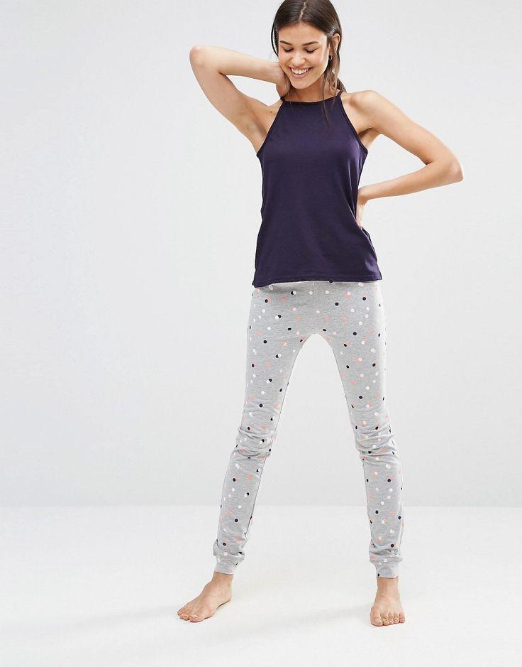 Image 4 ofNew Look Tall Polka Dot Pyjama Set