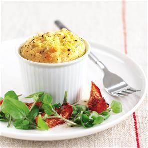 Mrs Kirkham's cheese soufflés
