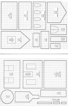 gingerbread house templates printable free - Google Search