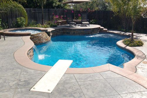 Pool With Diving Backyard Pinterest Galleries Nice And Diving