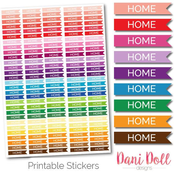 Home Planner Stickers Coloured Flags Bright To Do List Printable Mambi Erin Condren Instant Download by danidolldesignsx