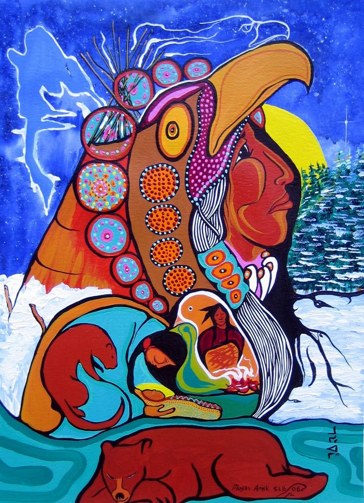 Moses Beaver from An Aboriginal Carol by David Bouchard