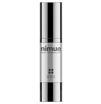 :: Nimue Skin Technology ::  Eye Serum  A lightweight eye treatment serum based on a Phytoceutical complex, Peptides and Idebenone for the treatment of dark circles, puffiness, bags and wrinkles in the delicate eye zone.  Reduction of dark circles around eyes. Reduces puffiness and bags under eyes. Restores a youthful tightness to skin. Hydrates and improves skin smoothness and suppleness.