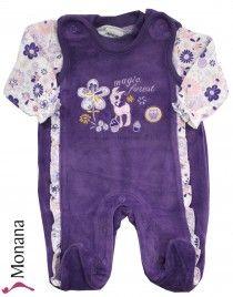 Jacky Nicki-Strampler & Baby-Shirt Love Forest lila<br>Größe: 56