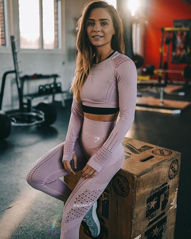 d93770fbd4661 Gymshark Flawless Knit Tights - Sea Blue in 2019 | •workout outfits ...