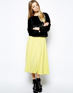 Image 1 ofASOS Full Midi Skirt