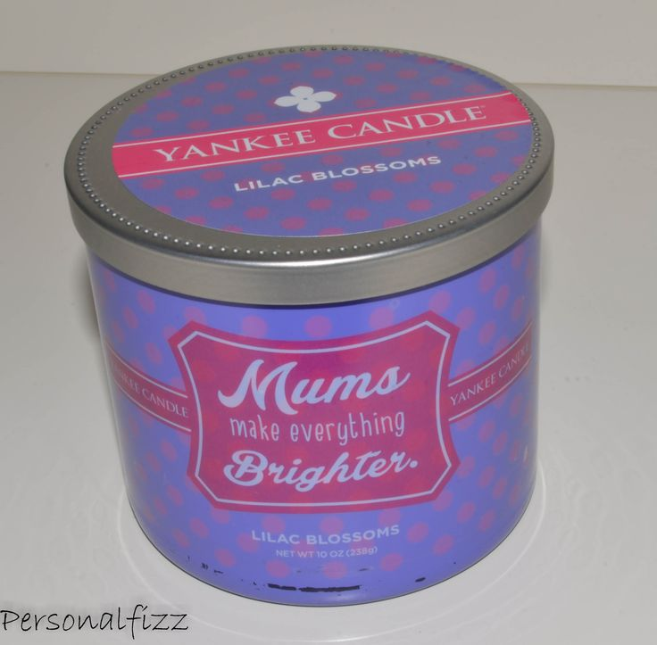 Yankee Candle Tumbler medium mums make everything brighter (lilac blossoms)