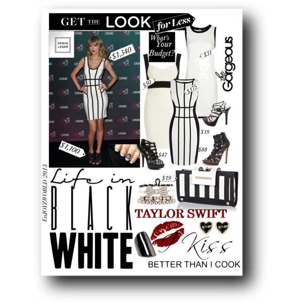 """""""GET The LOOK For Less: Taylor Swift In Herve' Leger"""" by enjoyzworld on Polyvore"""