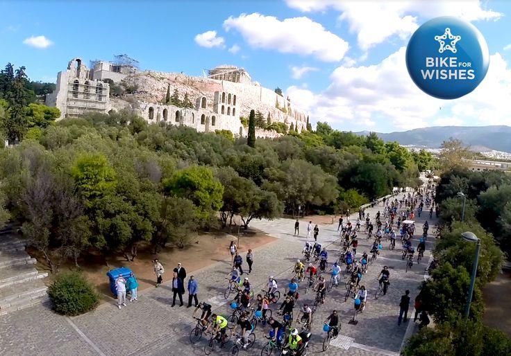 Bike for Wishes 19.10.14   Το Make-A-Wish Greece, οργάνωσε την 1η ποδηλατοδρομία υπό την Αιγίδα του Δήμου Αθηναίων&του ΟΠΑΝΔΑ με σκοπό την υιοθεσία της Ευχής του Αντρέα, που είχε ευχηθεί να αποκτήσει ένα ποδήλατο ΒΜΧ! Η συμμετοχή και η ανταπόκριση του κόσμου ήταν τέτοια που όχι μόνον υιοθετήθηκε η εν λόγω Ευχή αλλά και ακόμη 2 Ευχές παιδιών. Την ίδια ημέρα οι παρευρισκόμενοι συμμετείχαν στην εκπλήρωση της Ευχής του Φάμπιο, 6 ετών, που είχε ευχηθεί να αποκτήσει ένα κόκκινο ποδήλατο!