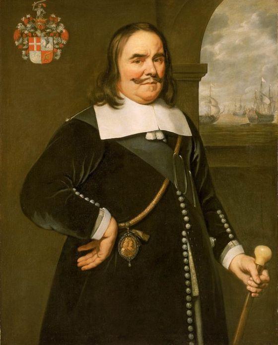Luitenant admiraal Michiel Adriaenszoon de Ruyter. De man die de nederlanders leidde in de zee-oorlog tegen de spanjaarden 24 maart 1607-29 april 1676