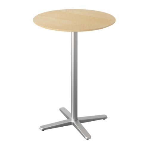 Billsta Bar Table 27 5x27 5 130 Birch Effect Top Covered With Melamine A Heat And Scratch Resistant Finish That Is Easy To Apartment 6 Pinte