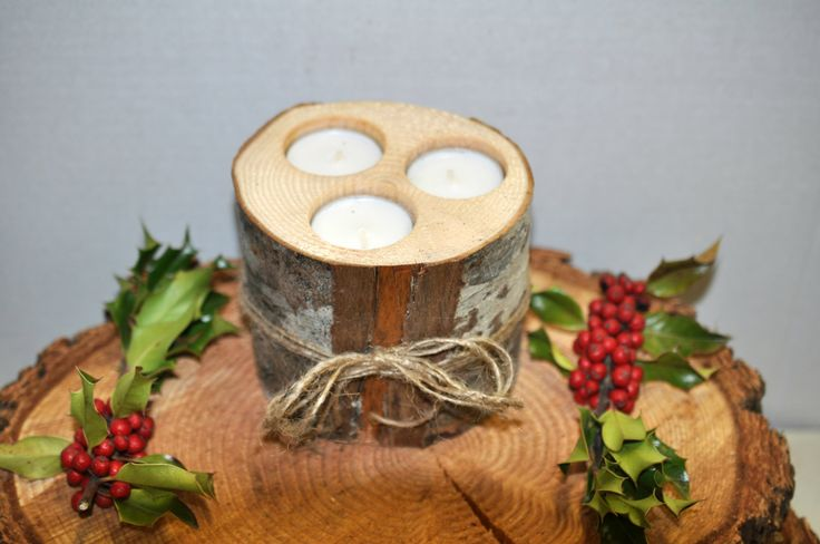 Rustic candle holder  wood candle holder - Rustic Decoration  Rustic candle Decoration log candle Centerpiece by Elevatedpartysupply on Etsy