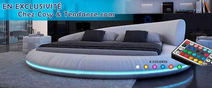 Tendance #design, l'éclairage mobilier, découvrez nos #Lits #led's #cocooning sur cosy-tendance.com