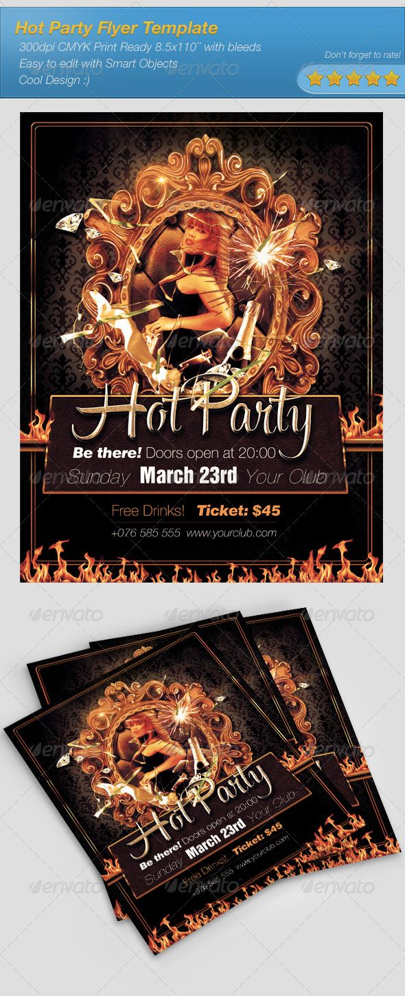 Hot Party Flyer