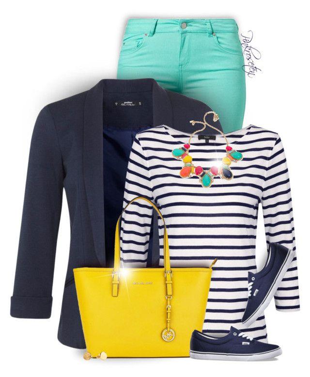 """Bright Pants For Summer to Fall"" by pinkroseten ❤ liked on Polyvore featuring moda, SuperTrash, Miss Selfridge, Kate Spade, Michael Kors, Gorjana y Vans"