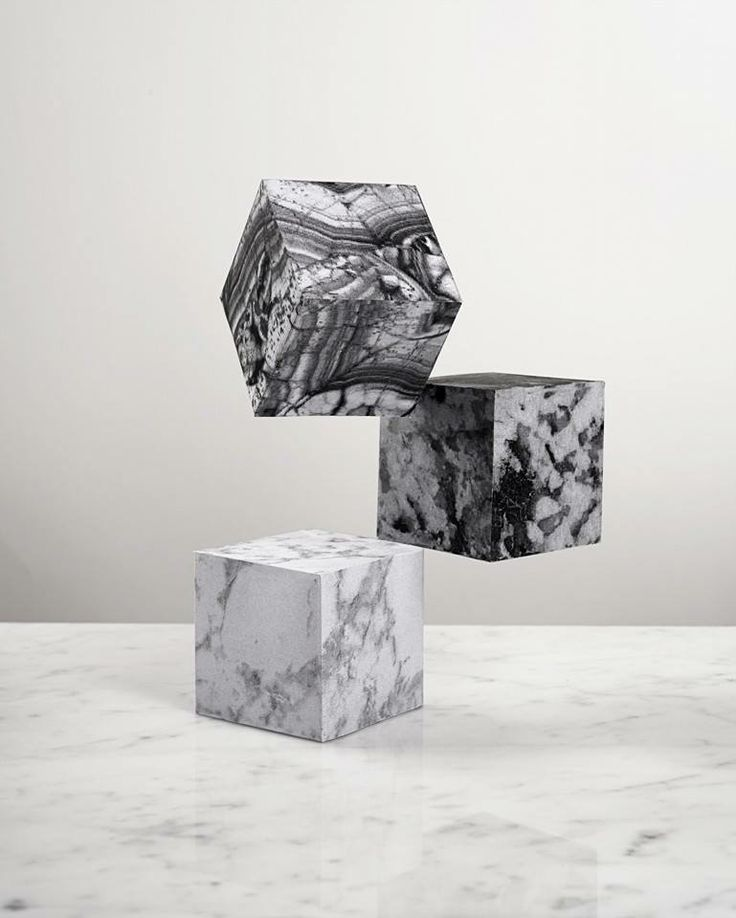 Marbled cubes