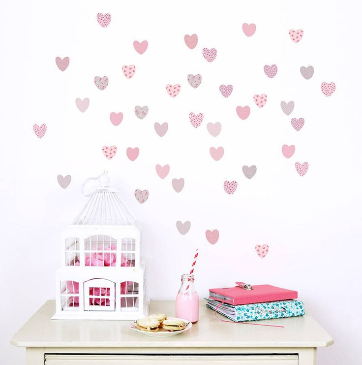 Scatter these little hearts around a room to add a cute detail to walls.The hearts are made from a range of vintage floral fabrics and match the other items in this range. The stickers are easily applied - just peel and stick - and are made of fabric adhesive so they can be removed, repositioned and reapplied over and over. They are free from vinyl, PVC, BPA and phthalates so make a great choice for nurseries and kids' rooms.Fabric adhesive on a polypropylene backing. Can be gently wiped…