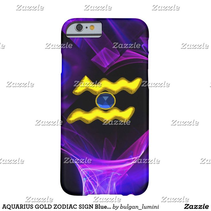 AQUARIUS GOLD ZODIAC SIGN Blue Purple Fractals Barely There iPhone 6 Case #zodiacal #astrology #astrologist #3d #techno #tech