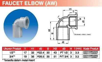 Faucet Elbow AW