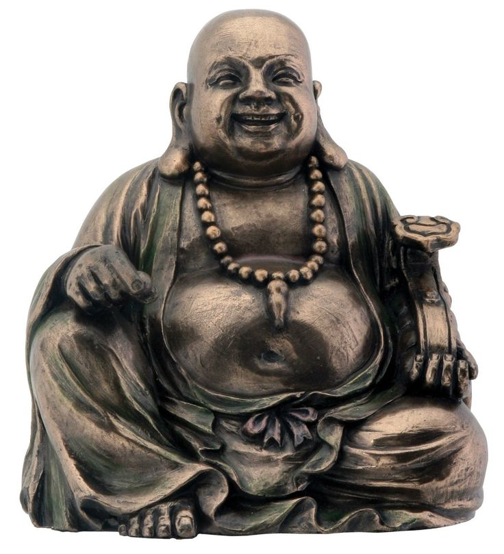 Bronze Hotei Buddha Laughing Buddhism Figurine Decoration * Check this awesome image  : Home Decor Sculptures