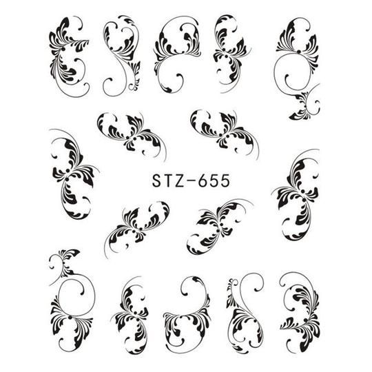 1 Sheet Black/White Leopard Nail Art Water Transfer Stickers Decals Beauty Full Wraps Manicure Decoration DIY Accessory BEB304