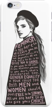 Emma Watson Feminism Design Snap Case for iPhone 6 & iPhone 6s