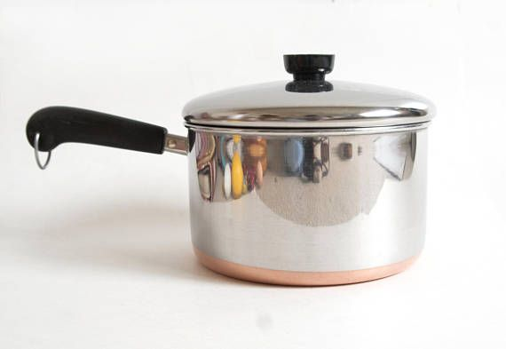 Vintage Revere Ware 4 Qt Saucepan 4 Quart Copper Bottom Soup Revere Ware Pots And Pans Saucepan