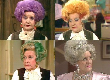 Mollie Sugden as the indomitable Mrs. Slocombe. Forever may she reign.