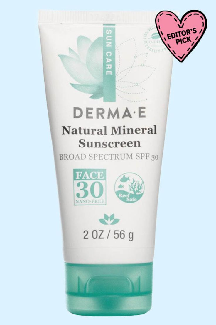 Best Natural Sunscreens for Your Face | Derma E Natural Mineral Sunscreen SPF 30- The Derma E Natural Mineral Sunscreen SPF 30 has JUST been reformulated, and now it's even better! They bumped up the zinc content, but it still has the same lightweight, oil-free lotion texture. That's why I think it's one of the better options for acne-prone skin. Note: If you can't find it, grab the baby version because the ingredients are exactly the same! #dermae #skincare #suncare #sunscreen #summerskin…