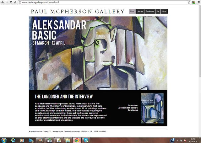 The Londoner and The Interview @ www.paulmcgallery.com/ Get the exhibition catalogue - available now...