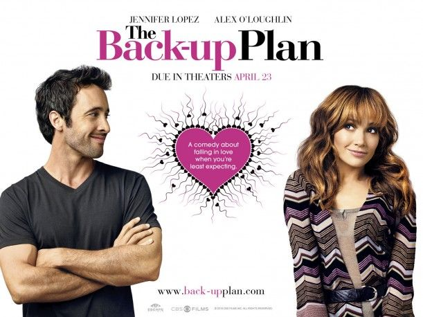 The Back-Up Plan movie poster Jennifer Lopez