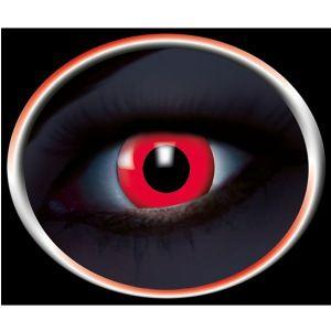 Røde UV kontaktlinser. De lyser i nærheden af uv lys og giver en hel unik oplevelse for alle der ser dig. Lille detalje, kæmpe effekt. #uv #kontaktlinser
