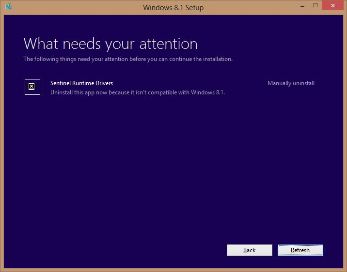 How to Fix Sentinel Runtime Drivers Problem in Windows 8.1