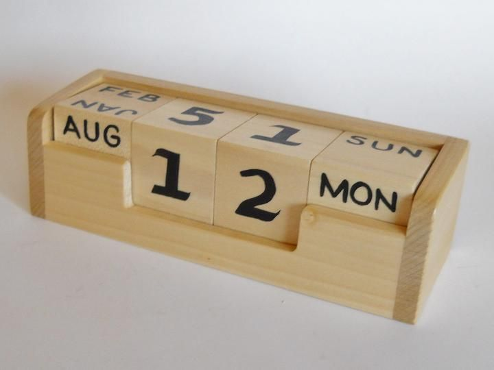 Calendar Blocks Diy : Best images about perpetual calendar on pinterest