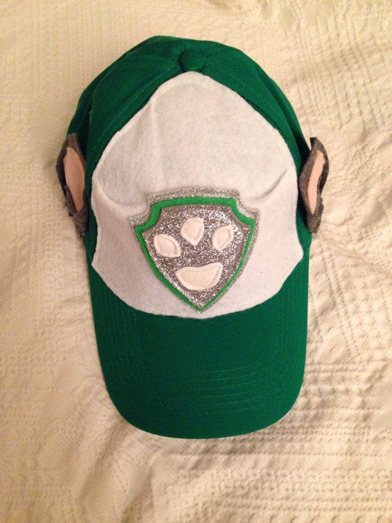 Rocky paw patrol inspired custom made baseball cap costume https://www.etsy.com/listing/248401886/paw-patrol-rocky-inspired-baseball-cap