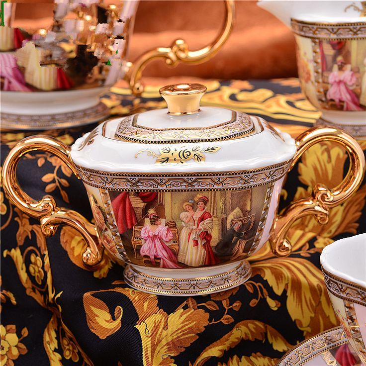 Guci английский чайный набор uropean чайный сервиз английский фарфор 15 кофейный набор керамический Континентальный красный свадебные подарки послеобеденный чай купить на AliExpress