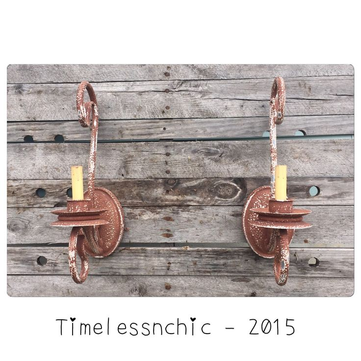 Wall Sconce - Rustic Wall Sconce - Electric Wall Sconces - Primitive Decor - Chippy - Chic