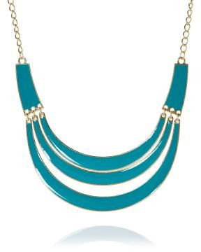 enamel row necklace | Shop Online at Addition Elle #AdditionElleOntheRoad