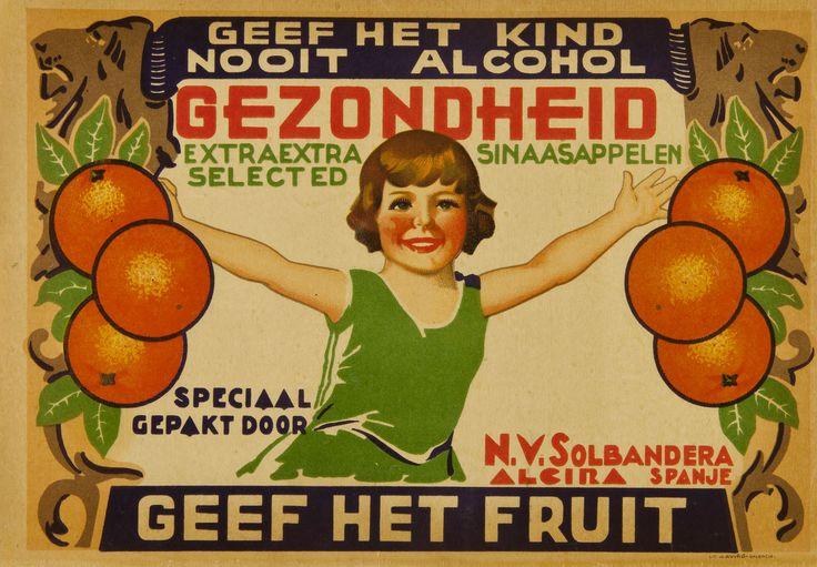 Gezondheid, extraextra sinaasappelen selected N.V. Solbandera. Alcira, entre 1925 y 1950