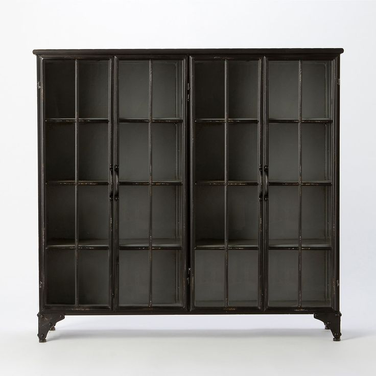 Iron & Glass Collector's Cabinet by Terrain: Cabinets Shopterrain, Book Nooks, Glasses Wall, Bookcas Cabinets, Reading Nooks, Glasses Cabinets, Glasses Collector, Collector Cabinets Man, Home Furniture