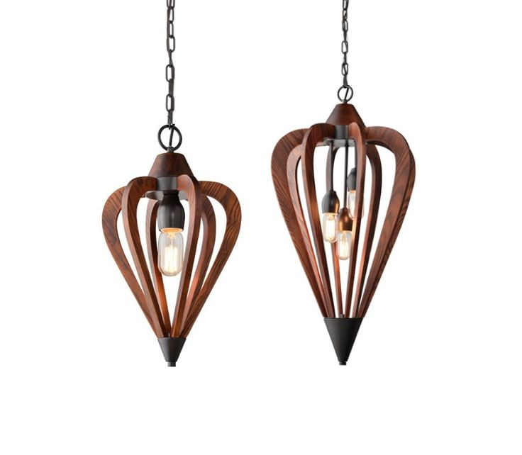 Senorita+1,+3+&+6+Light+Cherry+Wood+Pendant+Light+CLA+SENORITA1+SENORITA2+SENORITA3, $281.00