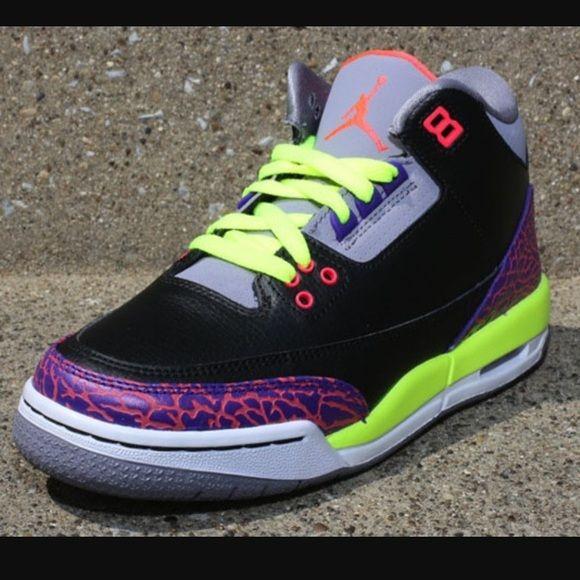 Air Jordan Retro 3 Air Jordan retro 3 Atomic red & volt Jordan Shoes