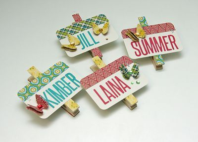clothespin name tags Bean Talk: Projects On Wednesday!