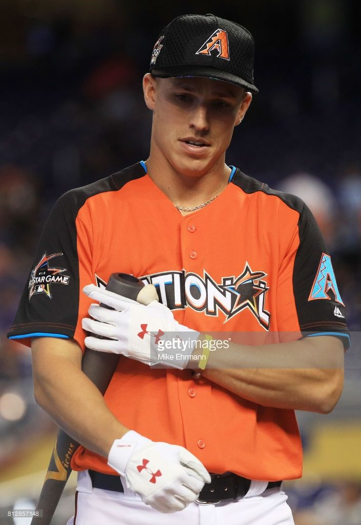 Jake Lamb #22 of the Arizona Diamondbacks and the National League warms up during batting practice for the 88th MLB All-Star Game at Marlins Park on July 11, 2017 in Miami, Florida.