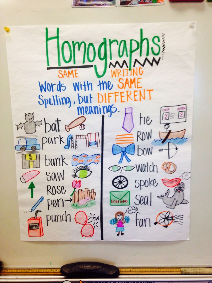 Another little chart I made for my third grade class. They loved it and I love making them. Homographs gotta love them